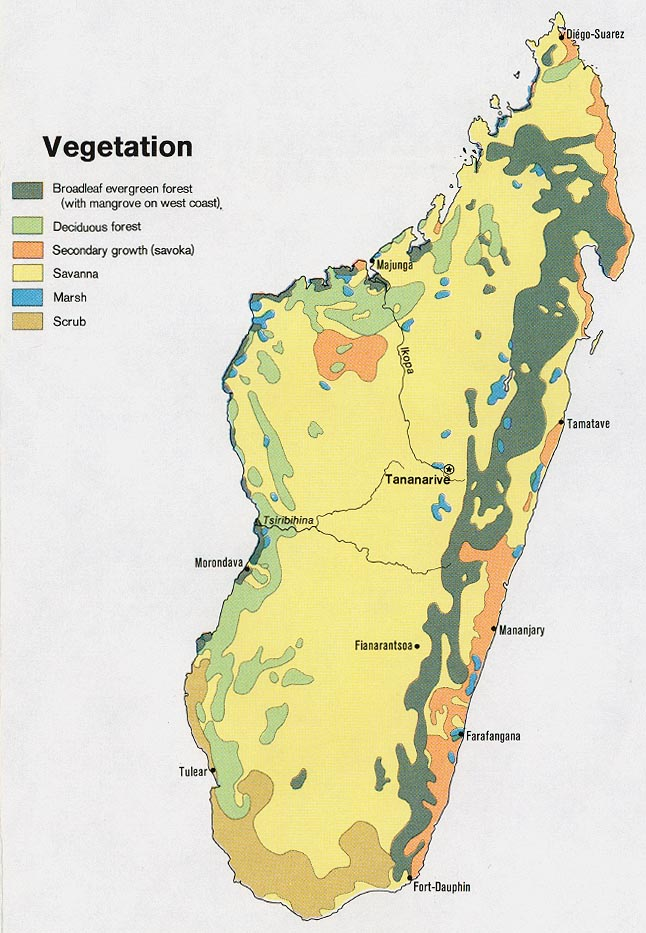 Madagascar maps perry castaeda map collection ut library online madagascar vegetation gumiabroncs Gallery