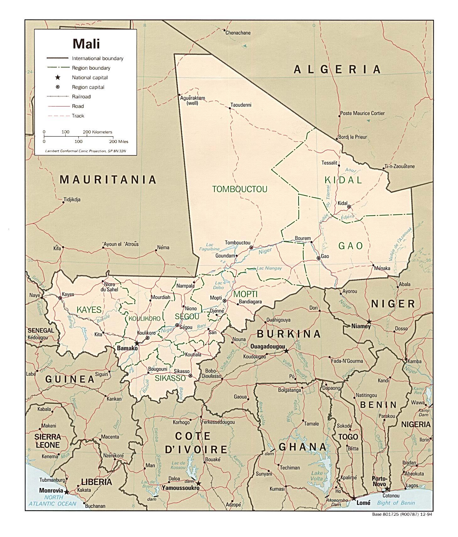 Songhai Africa Map