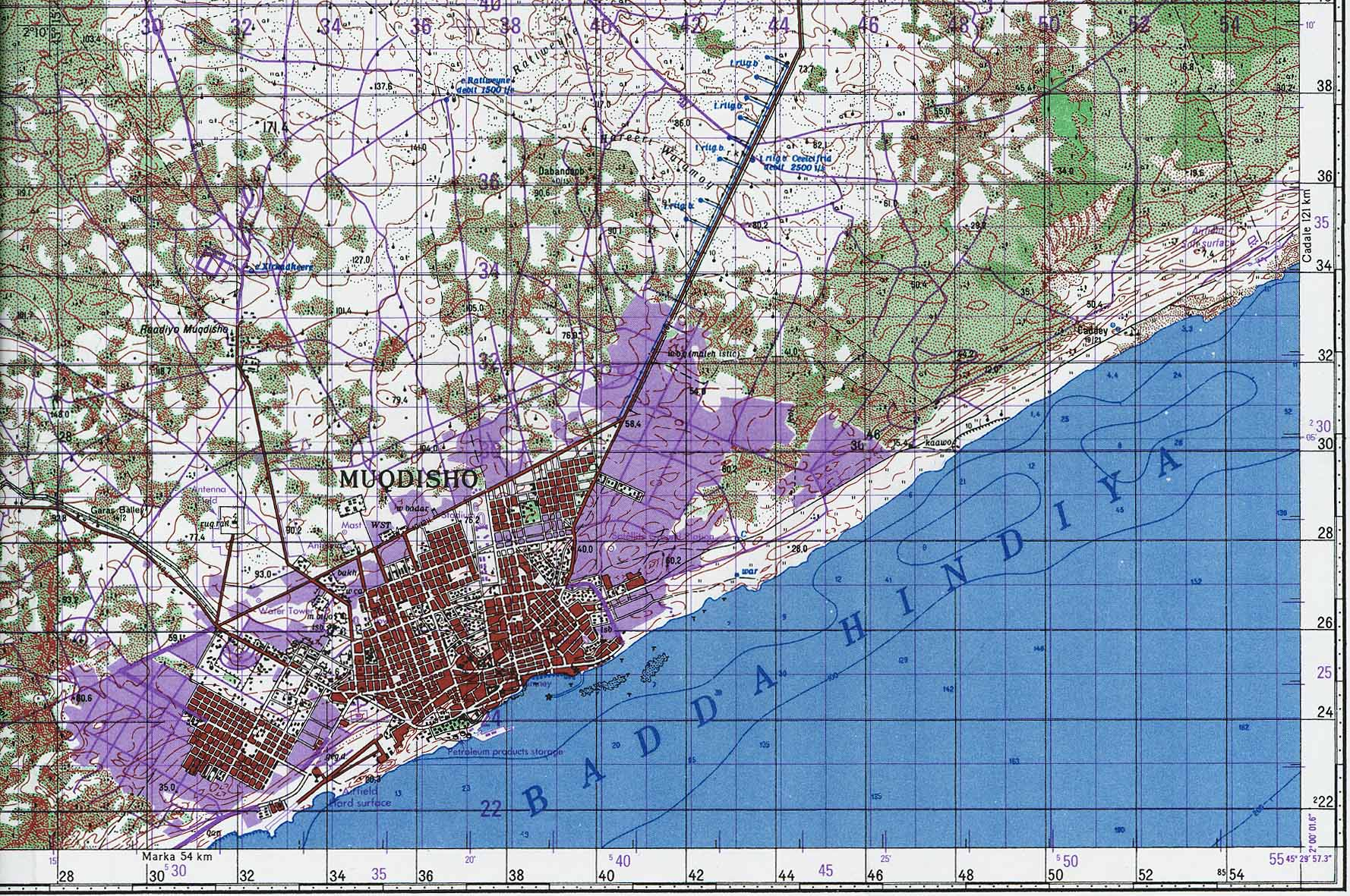 Somalia Maps - Perry-Castañeda Map Collection - UT Library Online Mogadishu Map