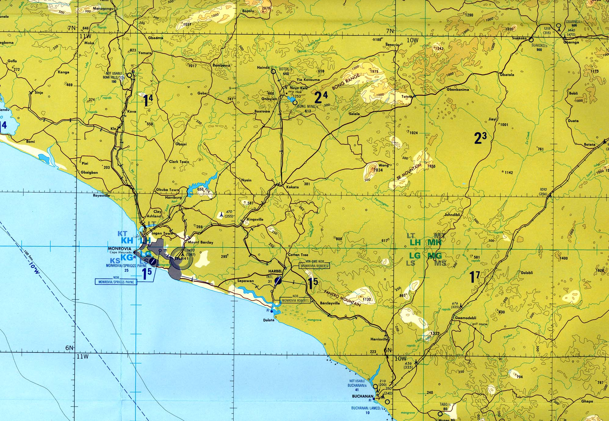 Liberia Maps - Perry-Castañeda Map Collection - UT Library ...