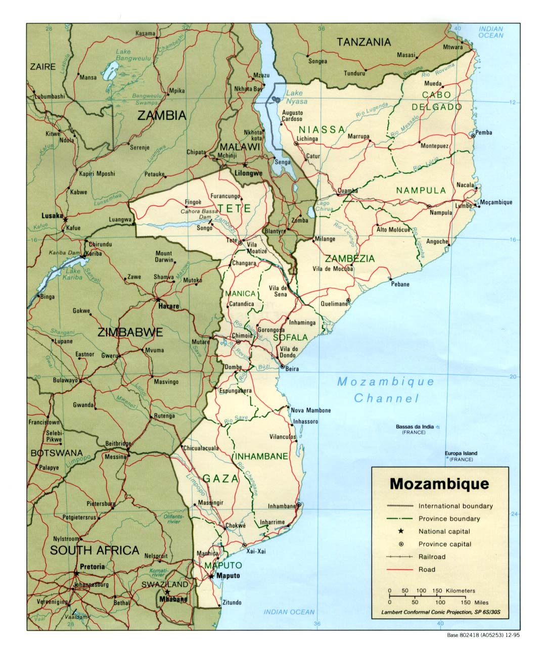 Mozambique Maps Perry Castaneda Map Collection Ut Library Online