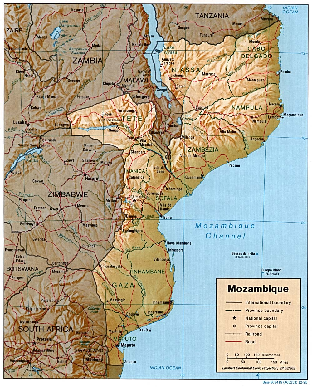 Mozambique Maps PerryCastaeda Map Collection UT Library Online