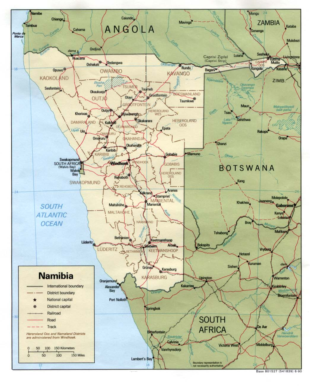 Namibia Maps PerryCastañeda Map Collection UT Library Online - Namibia map