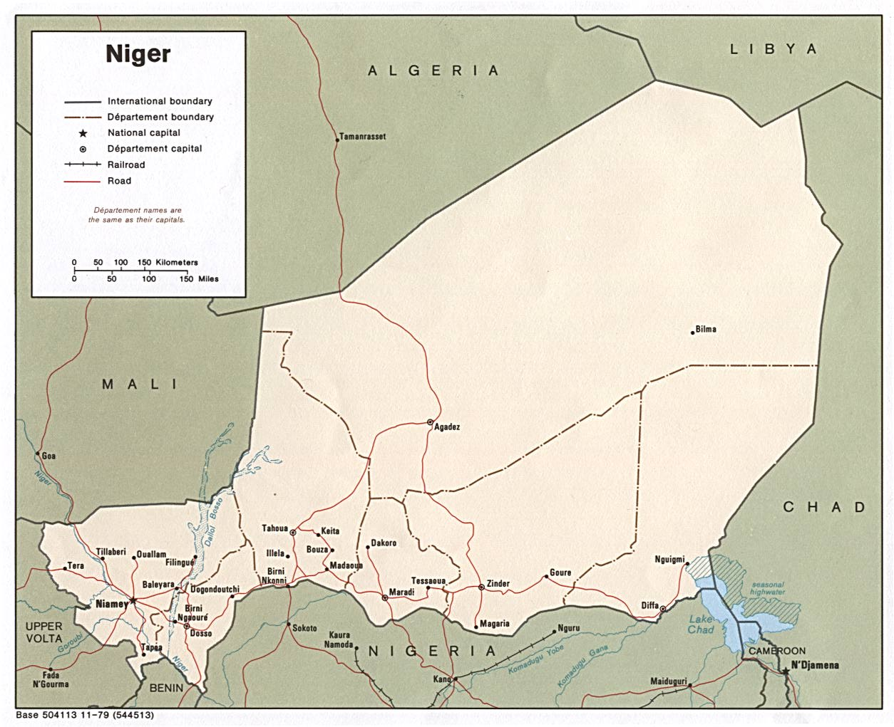 Niger Neighbours Map • Mapsof.net