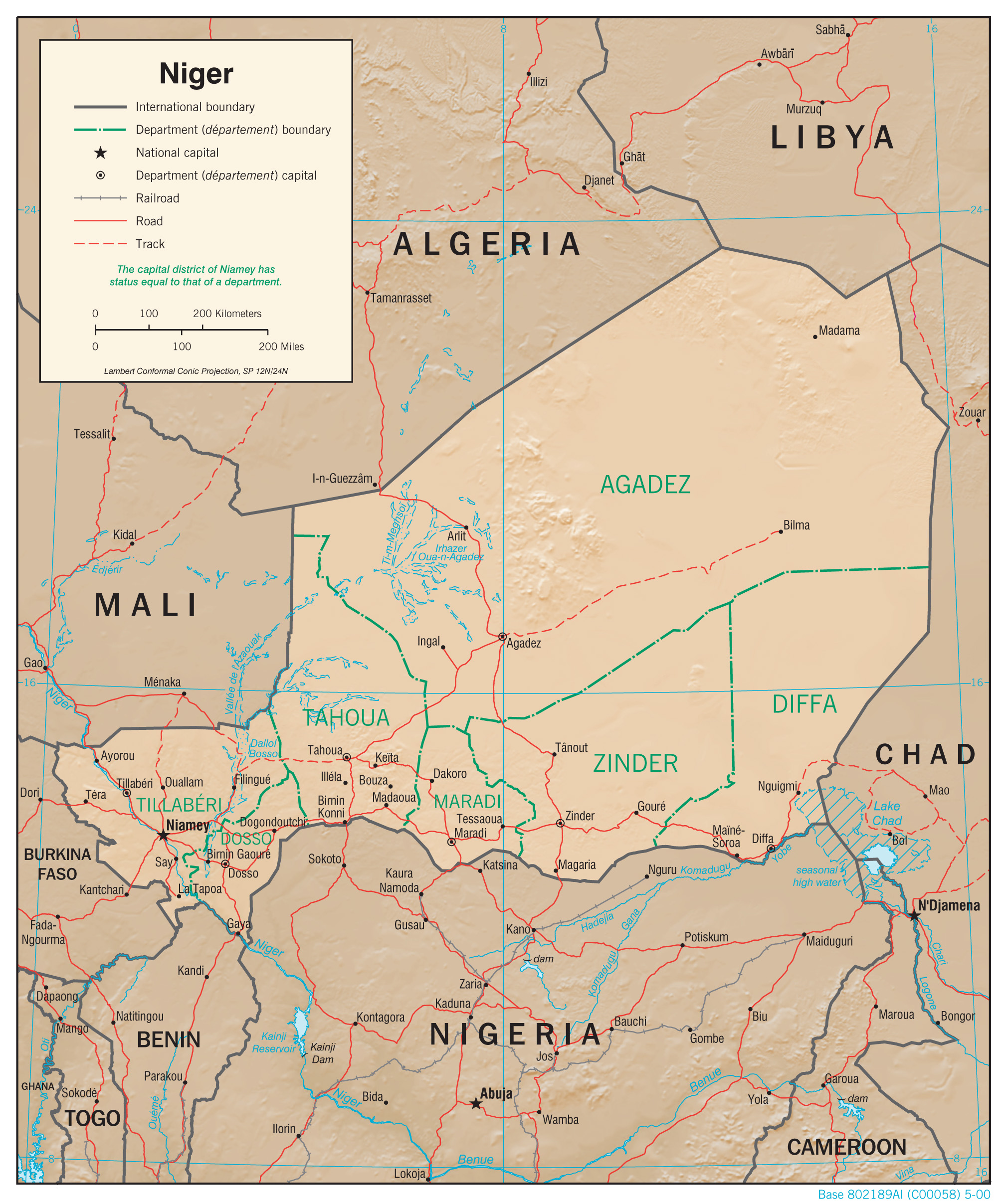 Map Of Niger Niger Maps   Perry Castañeda Map Collection   UT Library Online