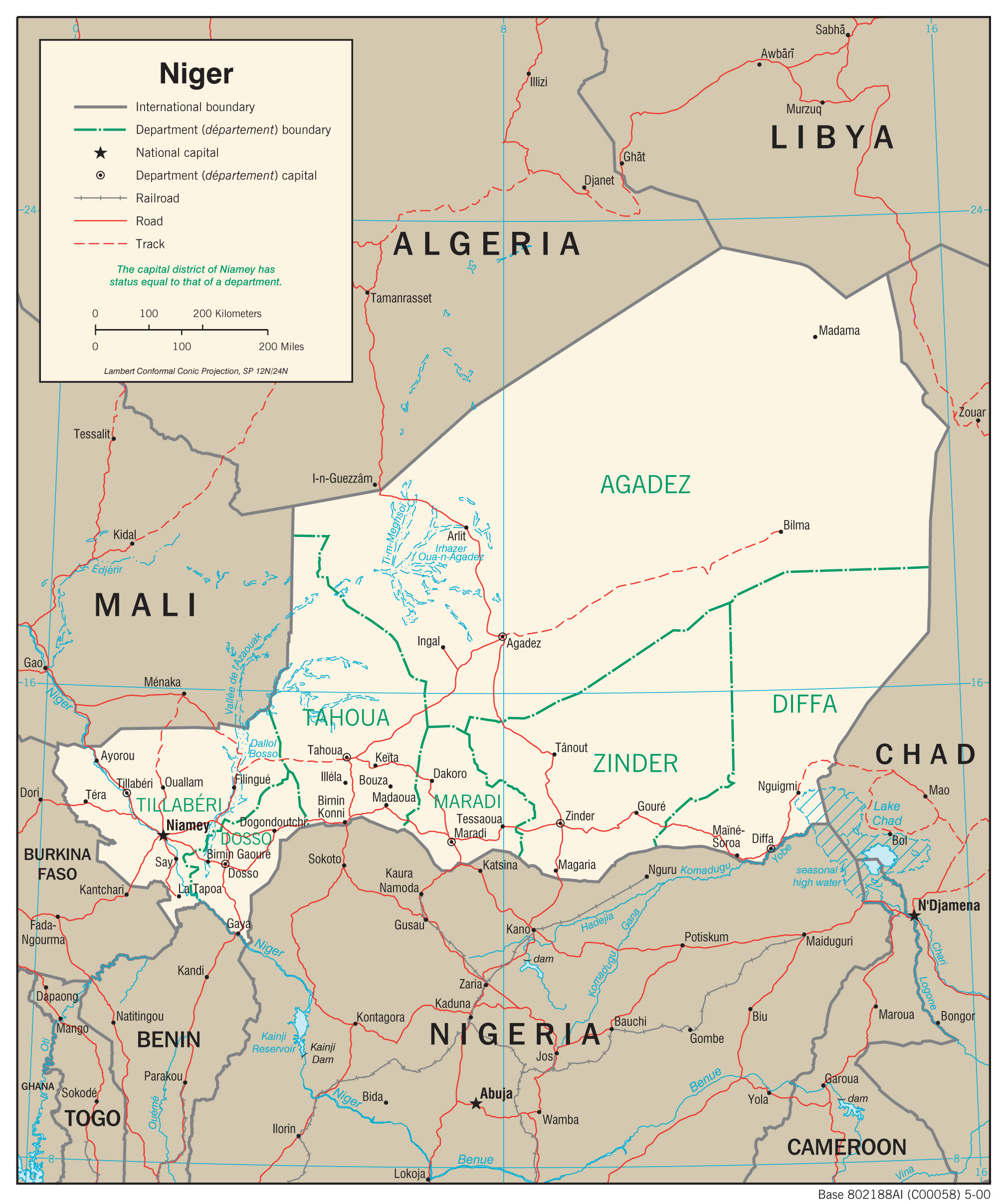 Niger Maps PerryCastaeda Map Collection UT Library Online