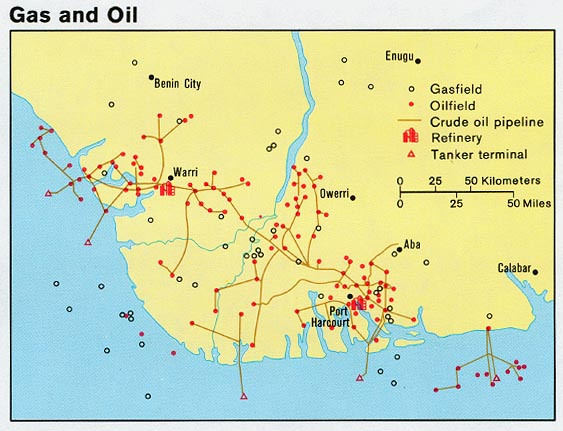 Nigeria maps perry castaeda map collection ut library online nigeria gas and oil from map no gumiabroncs Gallery