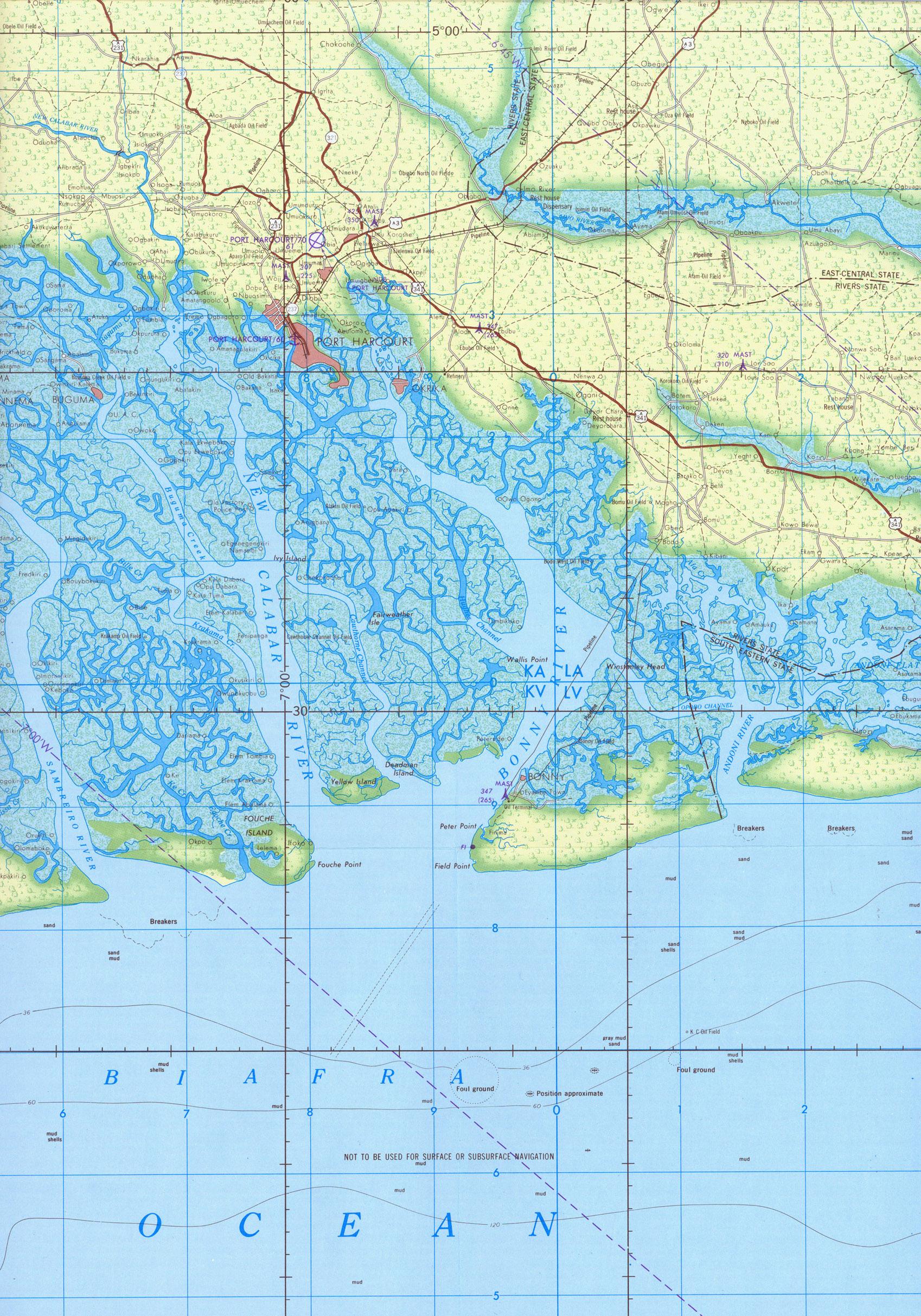 Port Harcourt Nigeria Map