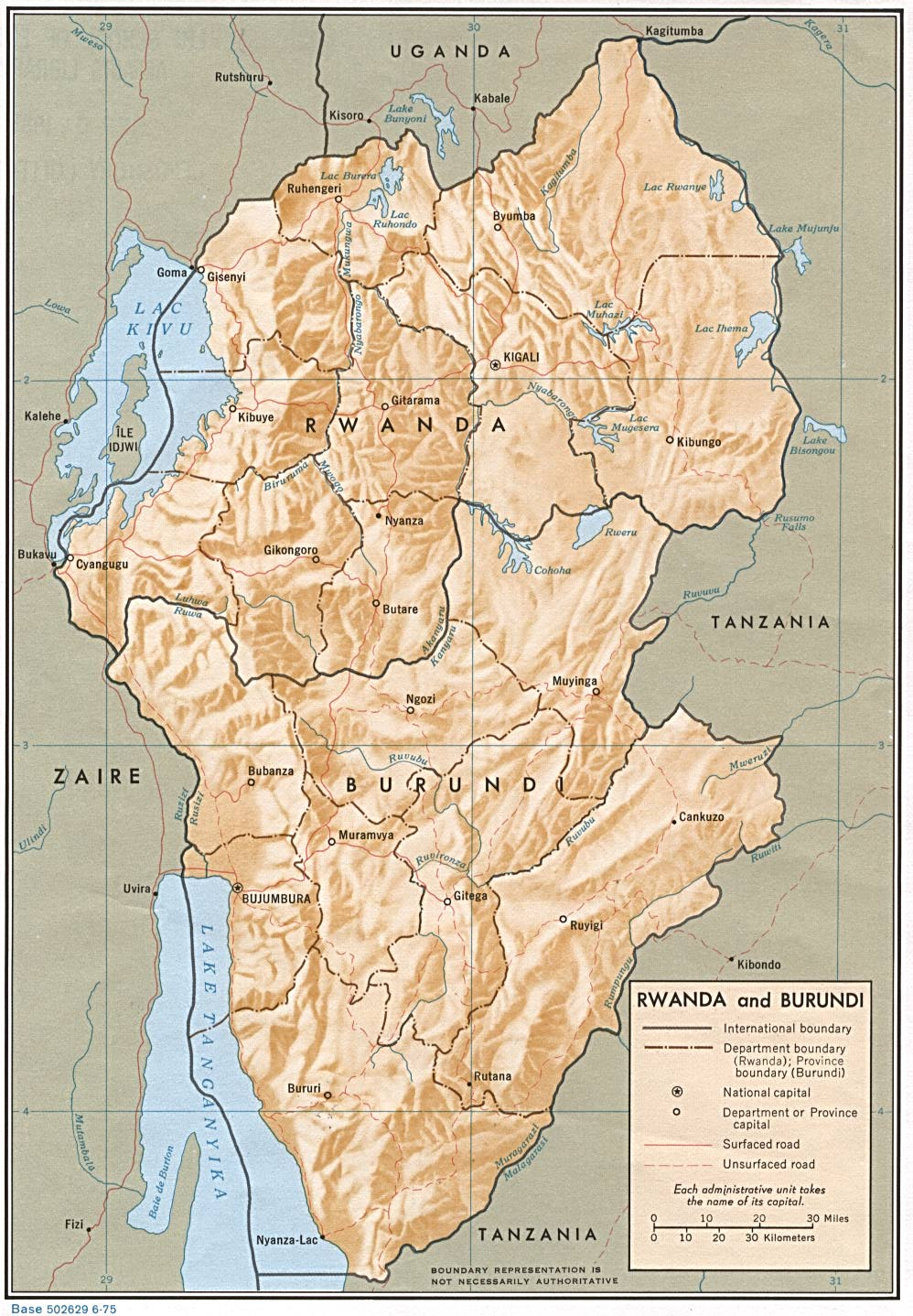 Rwanda Maps PerryCastañeda Map Collection UT Library Online - Rwanda map