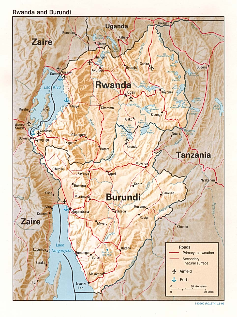 Rwanda Maps Perry Castaneda Map Collection Ut Library Online