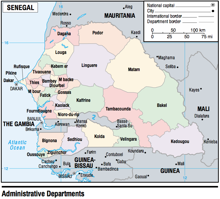 Senegal Maps PerryCastaeda Map Collection UT Library Online