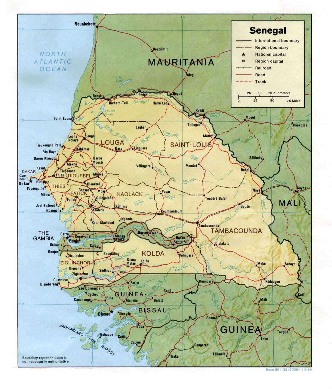 Senegal On Africa Map.Senegal Maps Perry Castaneda Map Collection Ut Library Online