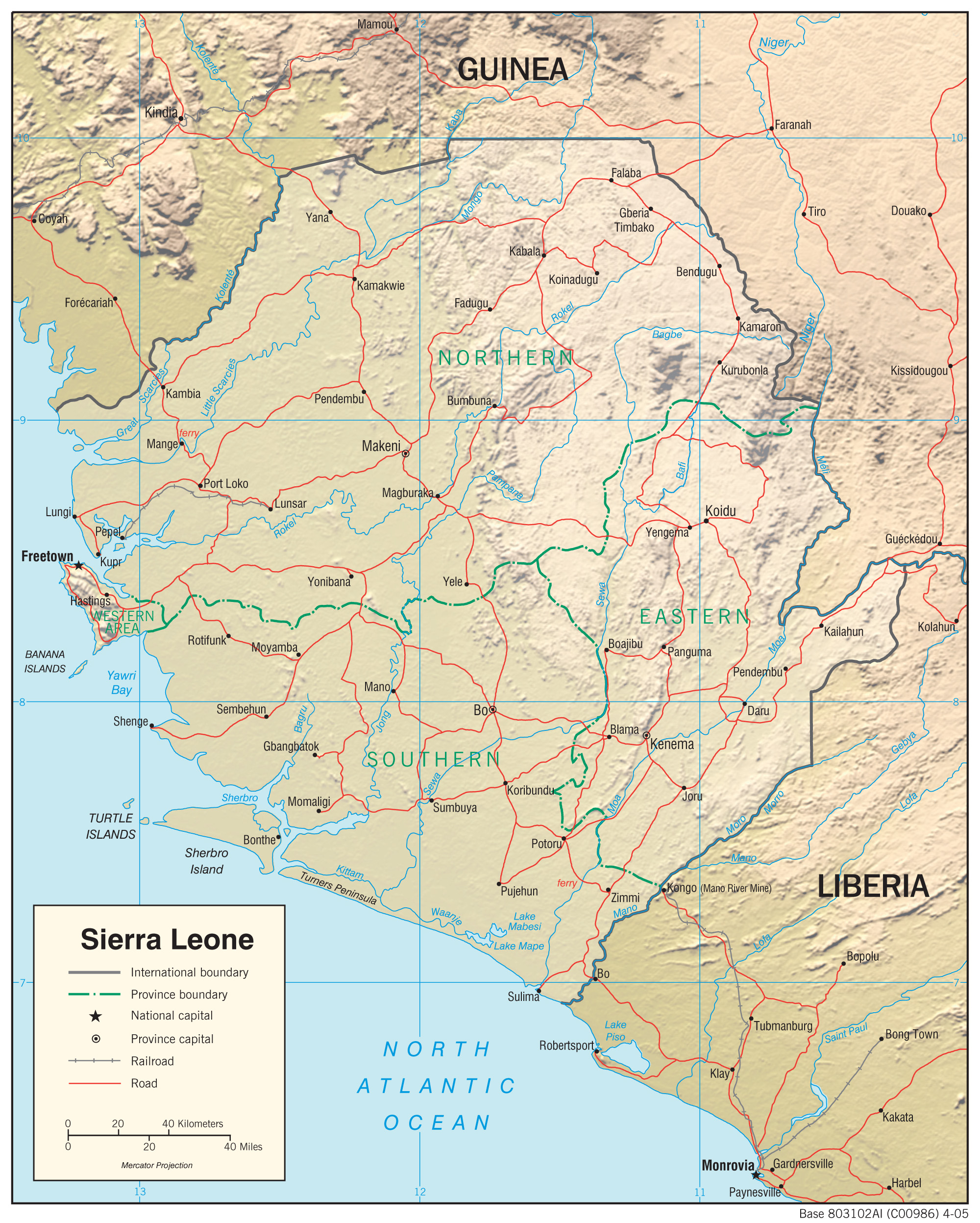 Sierra Leone Maps PerryCastaeda Map Collection UT Library Online