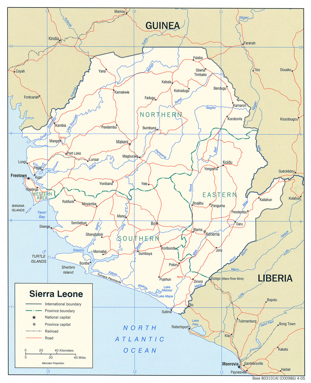 Sierra Leone Maps PerryCastañeda Map Collection UT Library Online - Sierra leone map