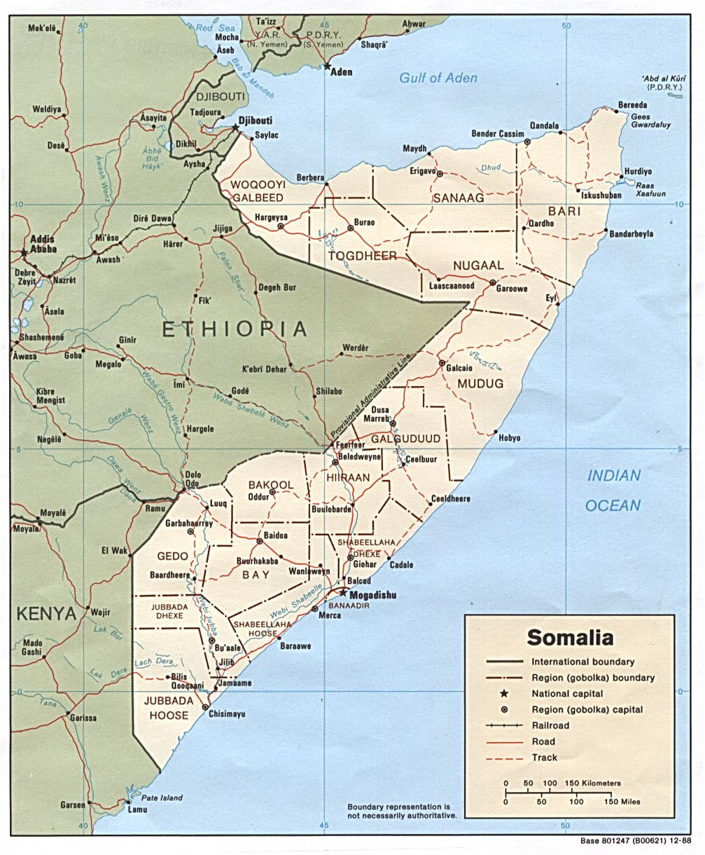 Somalia Maps Perry Castaneda Map Collection Ut Library Online