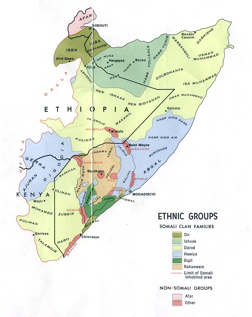 Pussy's ethnic conflict in somalia have