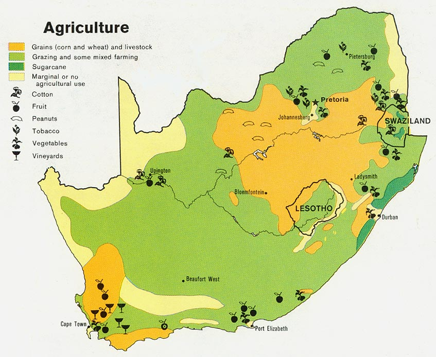 South africa maps perry castaeda map collection ut library online south africa agriculture from map gumiabroncs Choice Image