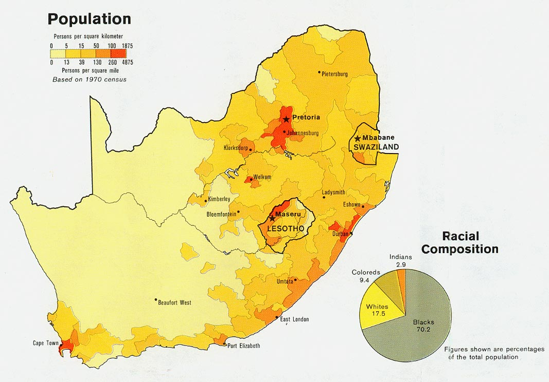 South Africa Population Map | Jackenjuul