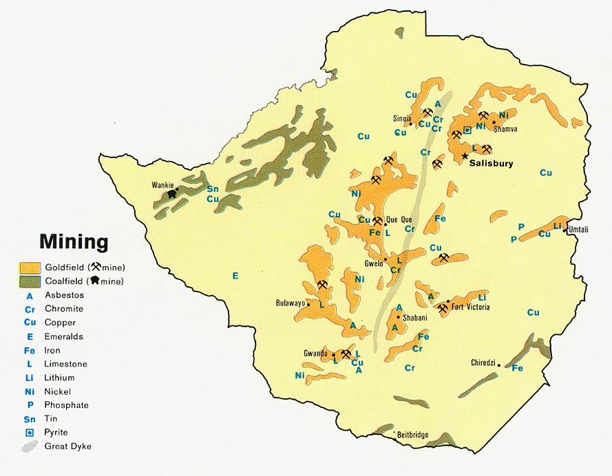 zimbabwe rhodesia mining