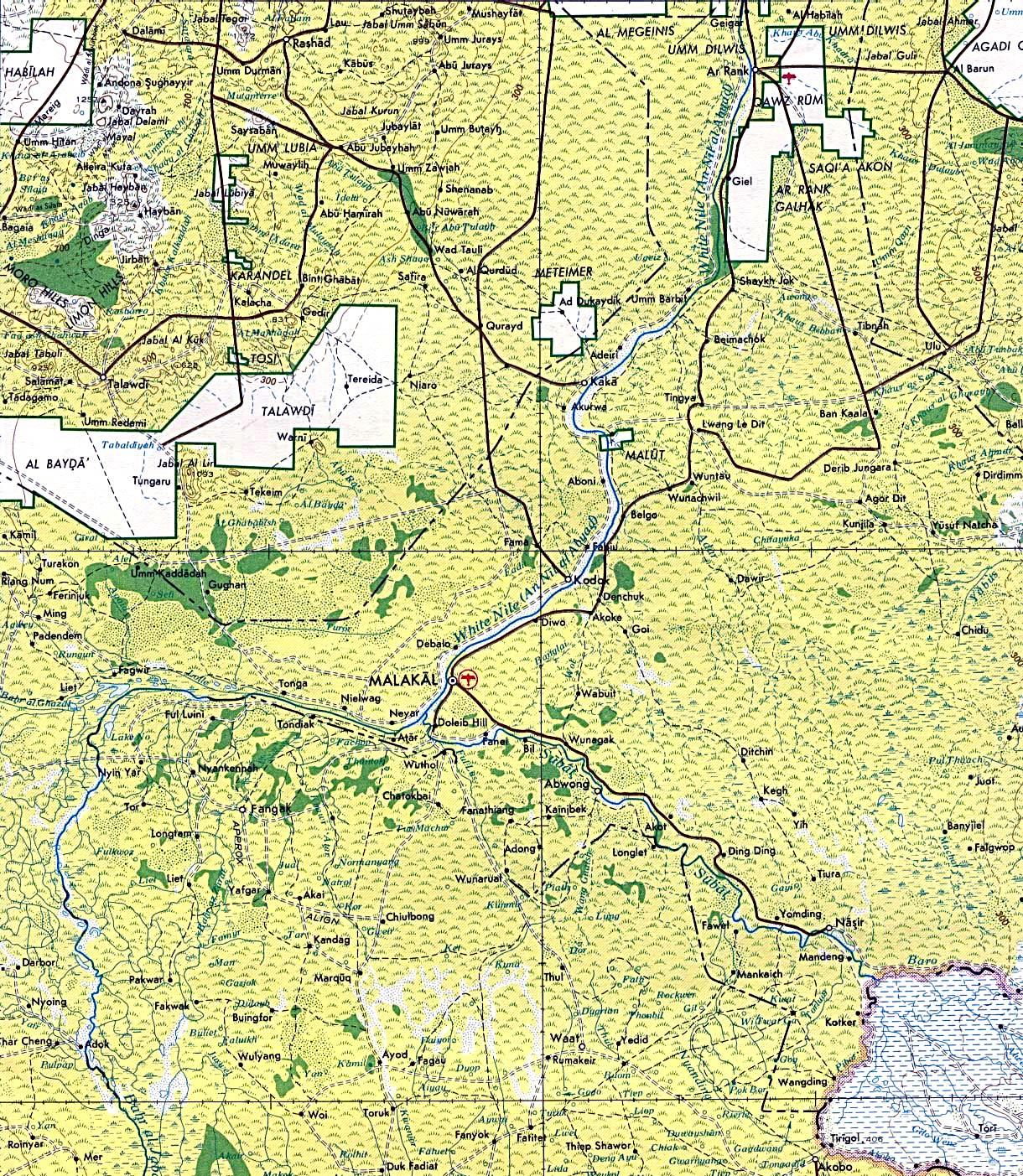 Of U S Army Map Service Series 2201 Sheet 20 1980 808k