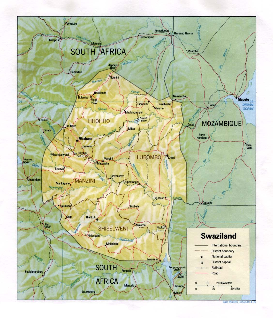 Swaziland Maps PerryCastañeda Map Collection UT Library Online - Swaziland map