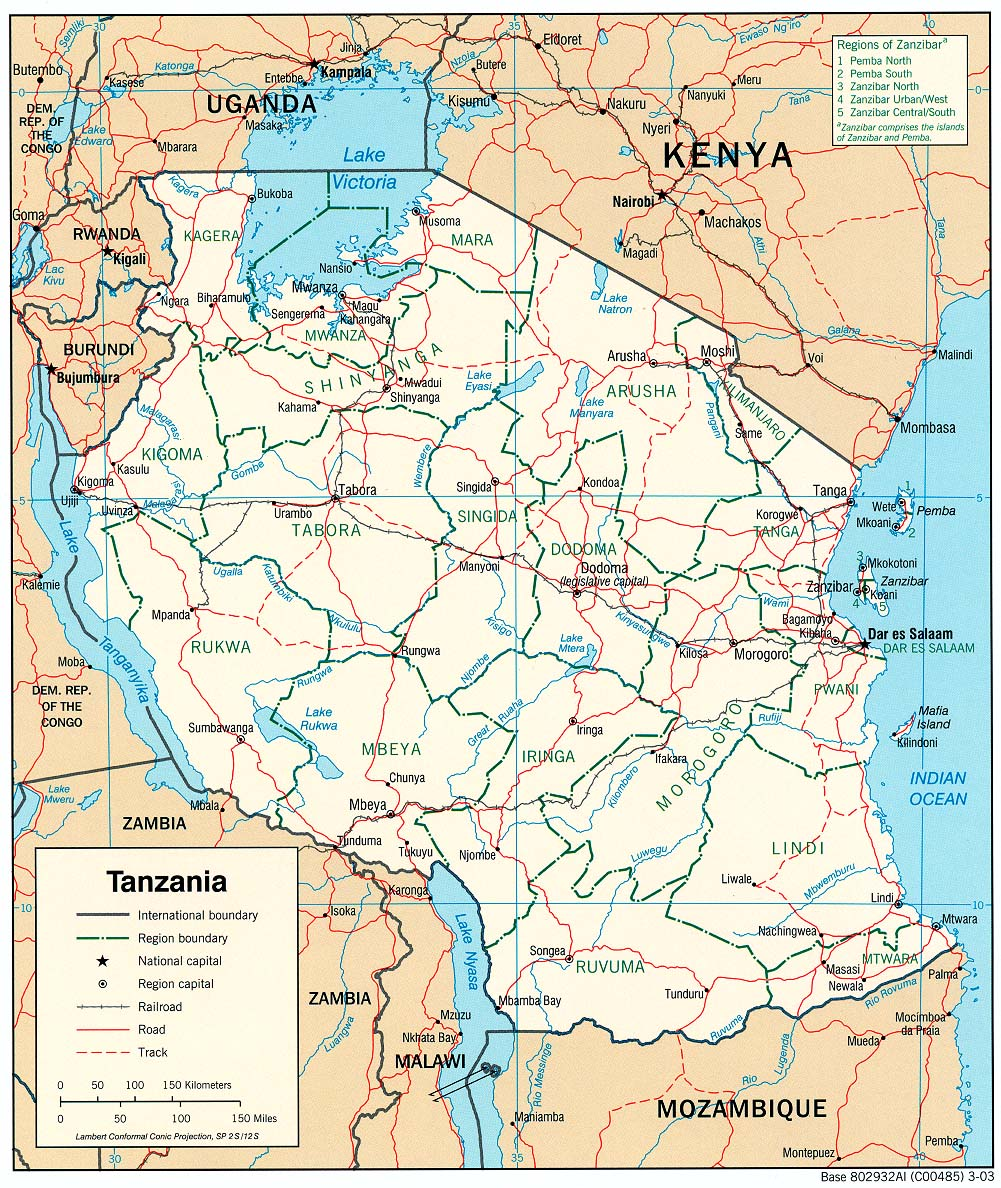 Map Of Tanzania Tanzania Maps   Perry Castañeda Map Collection   UT Library Online Map Of Tanzania