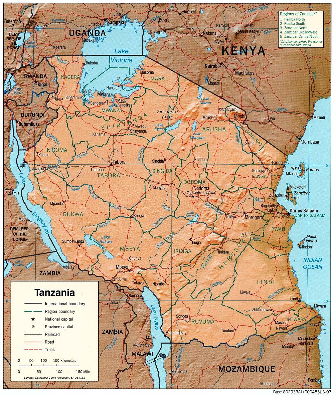 Liportal Tansania Landesubersicht Naturraum Das