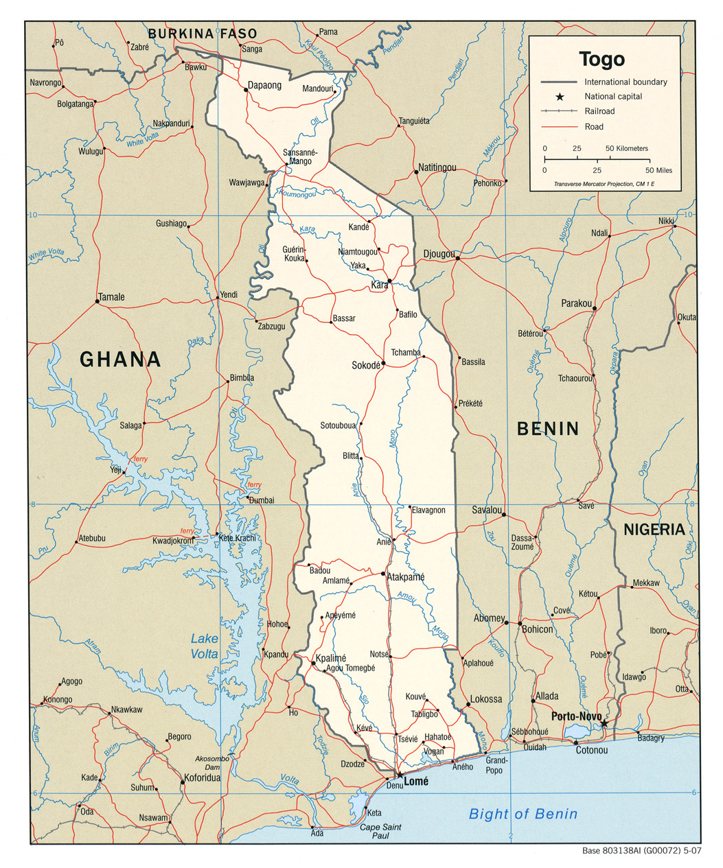 karta togo Togo Maps   Perry Castañeda Map Collection   UT Library Online karta togo