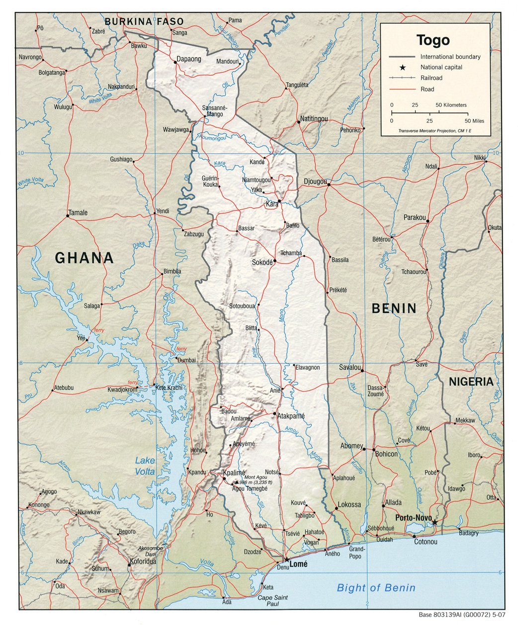 Togo maps perry castaeda map collection ut library online togo maps gumiabroncs Image collections