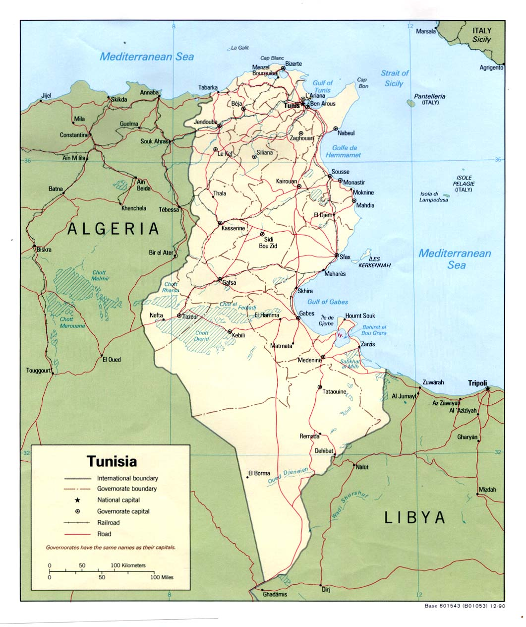 TUNISIA Maps - Perry-Casta��eda Map Collection - UT Library Online