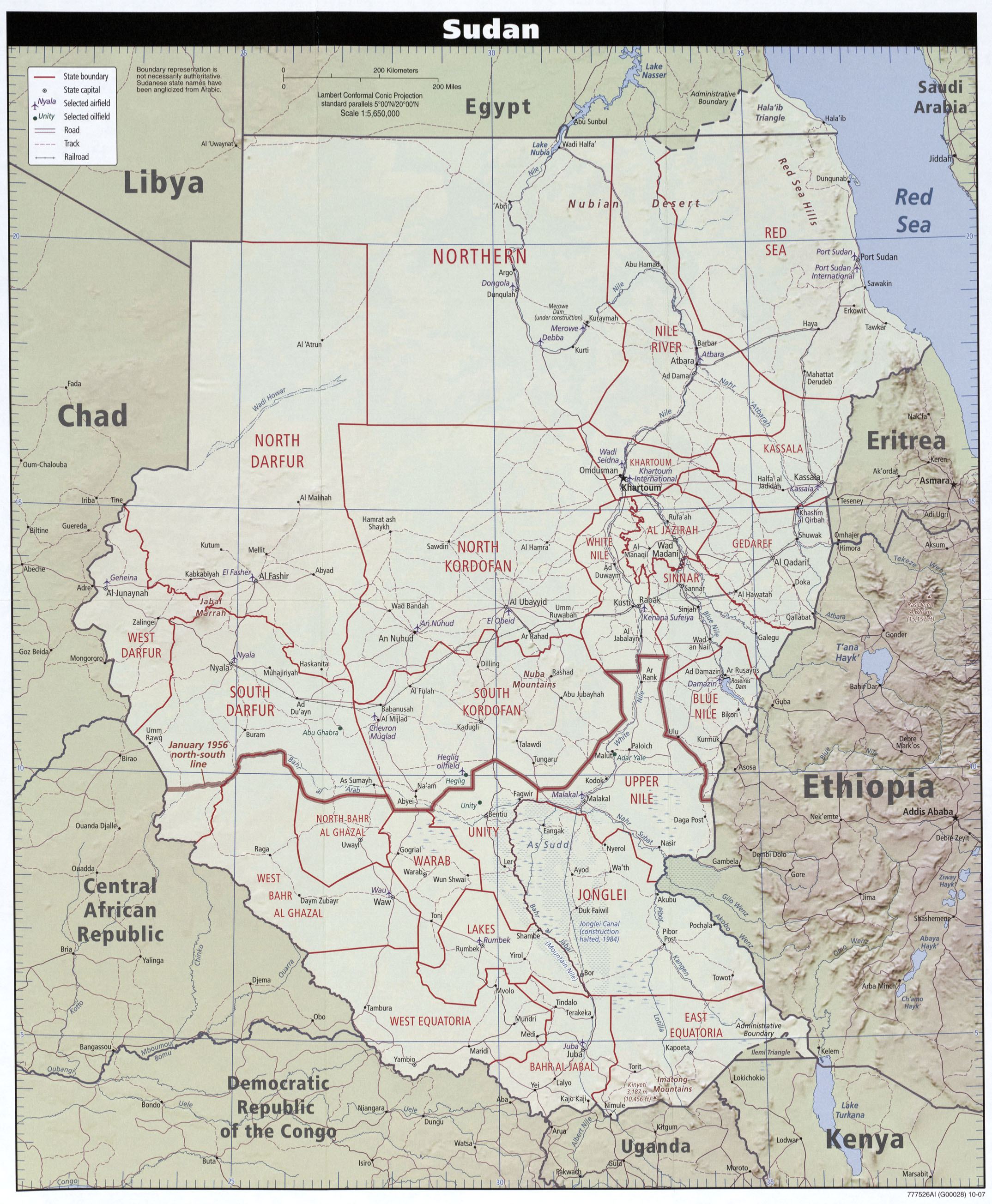 Political Map Of Sudan.Sudan Maps Perry Castaneda Map Collection Ut Library Online