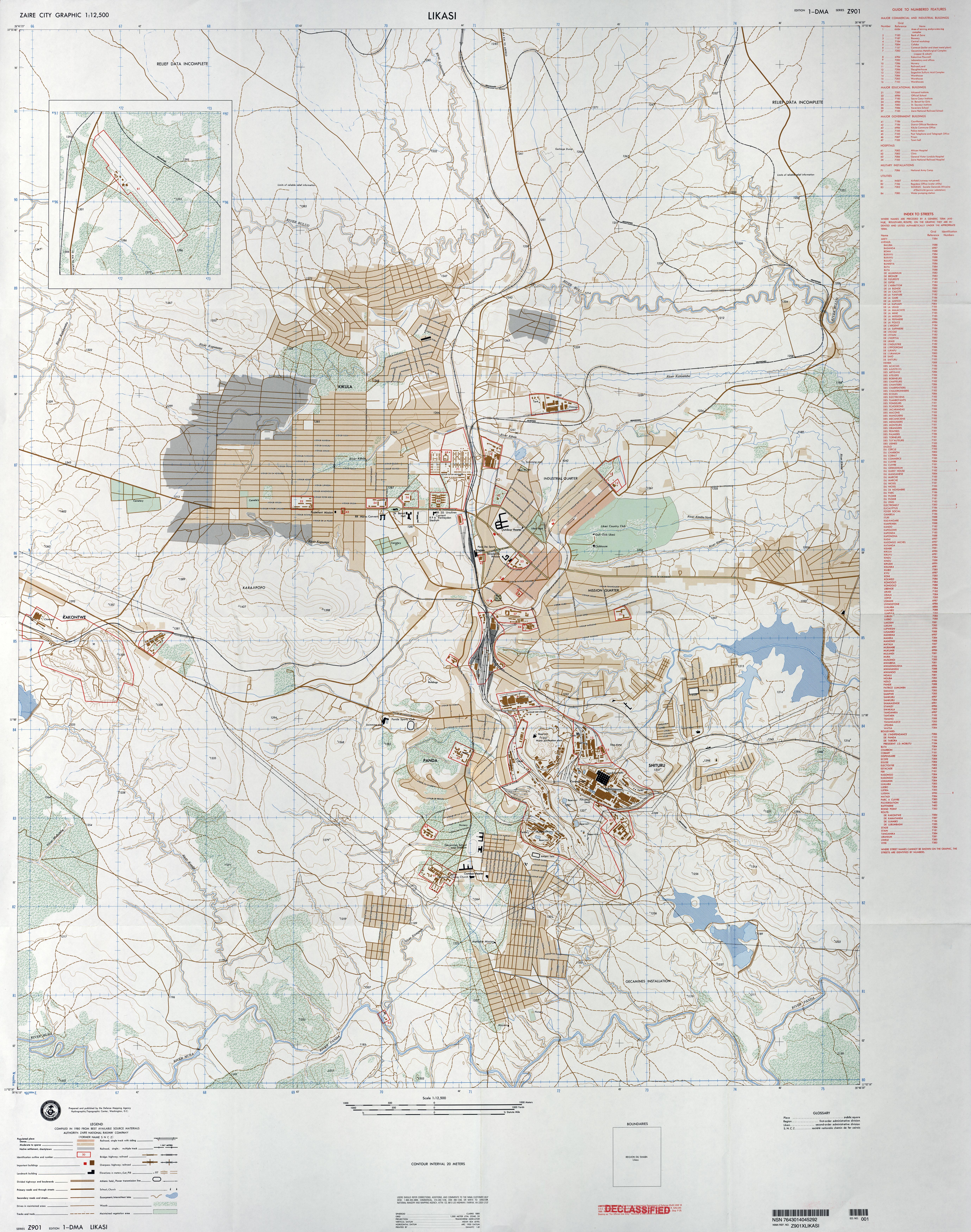 U S Defense Mapping Agency 1980