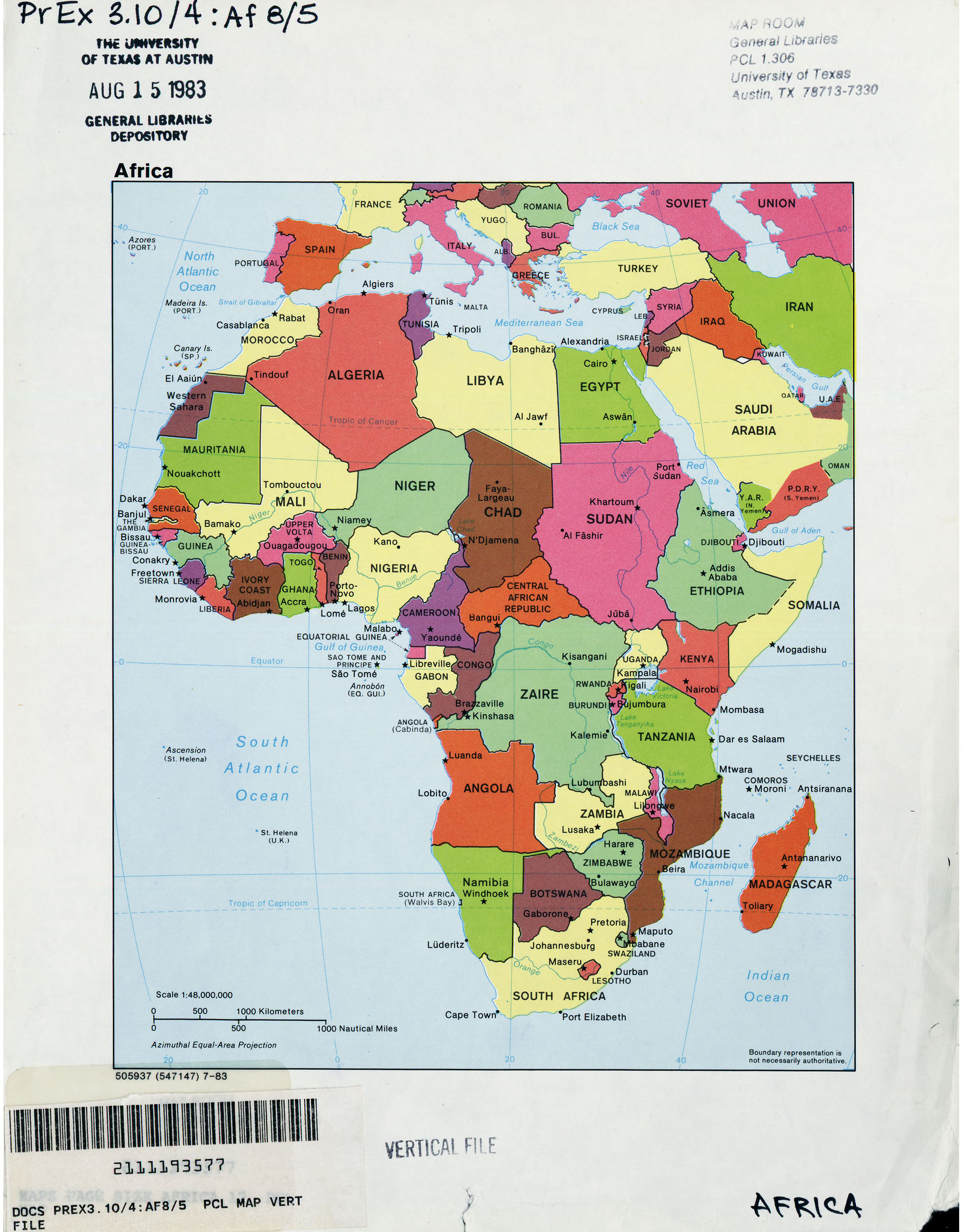 Africa Maps PerryCastañeda Map Collection UT Library Online - Map africa