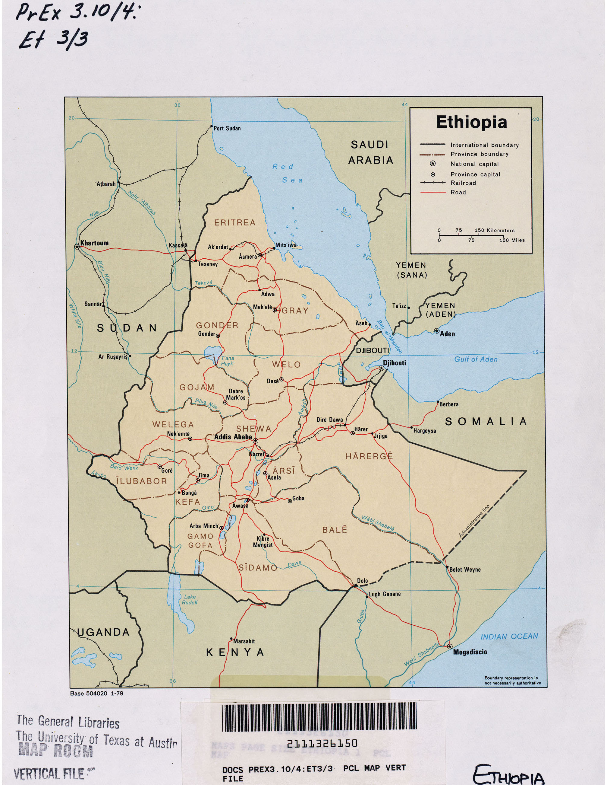 Ethiopia Maps - Perry-Castañeda Map Collection - UT Library ...