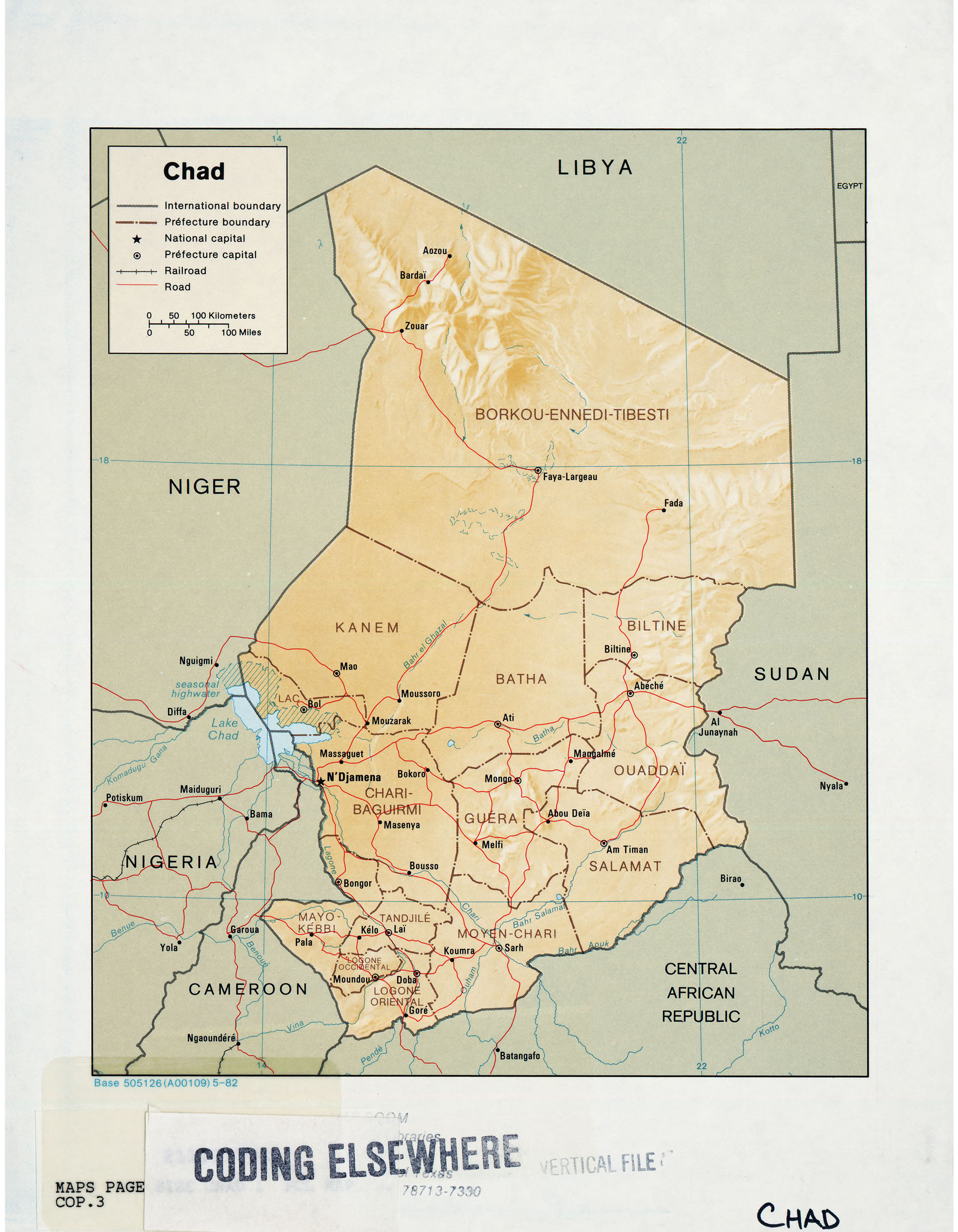 Chad Maps - Perry-Castañeda Map Collection - UT Liry Online Chad Map on