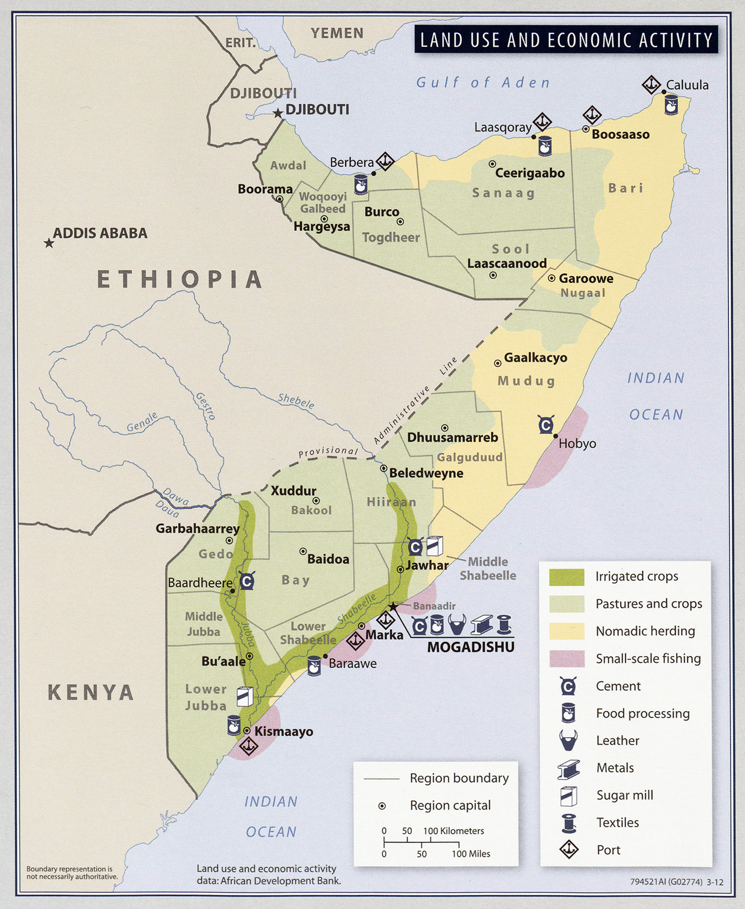 Map Of Natural Resources In Somalia