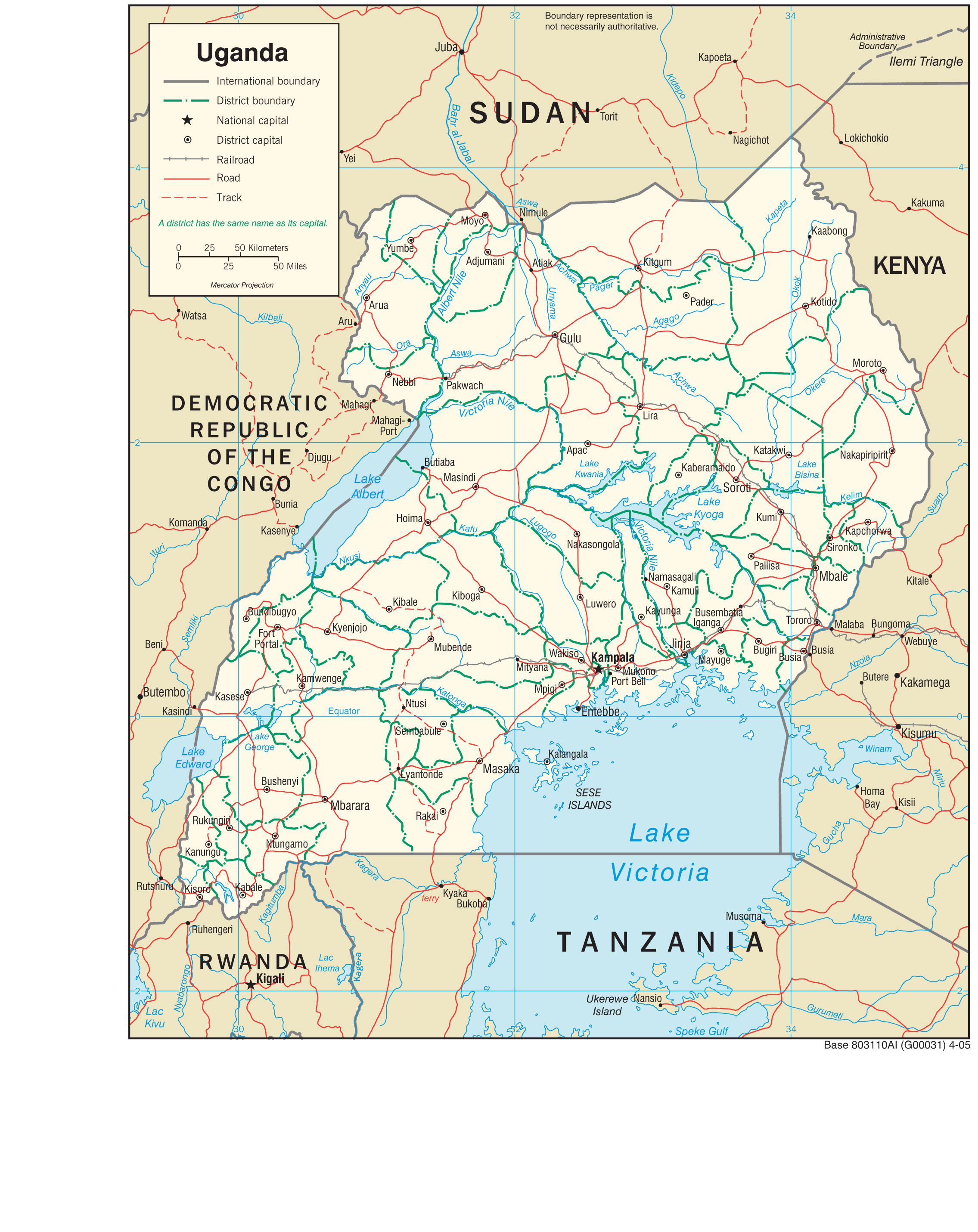 Uganda maps perry castaeda map collection ut library online uganda maps gumiabroncs Image collections