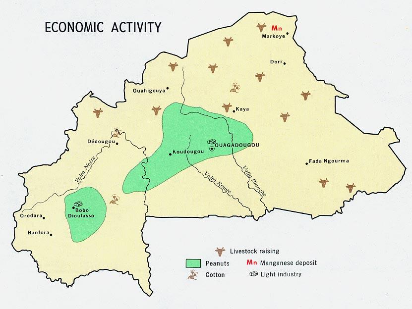 Burkina Faso Maps PerryCastañeda Map Collection UT Library Online - Burkina faso map