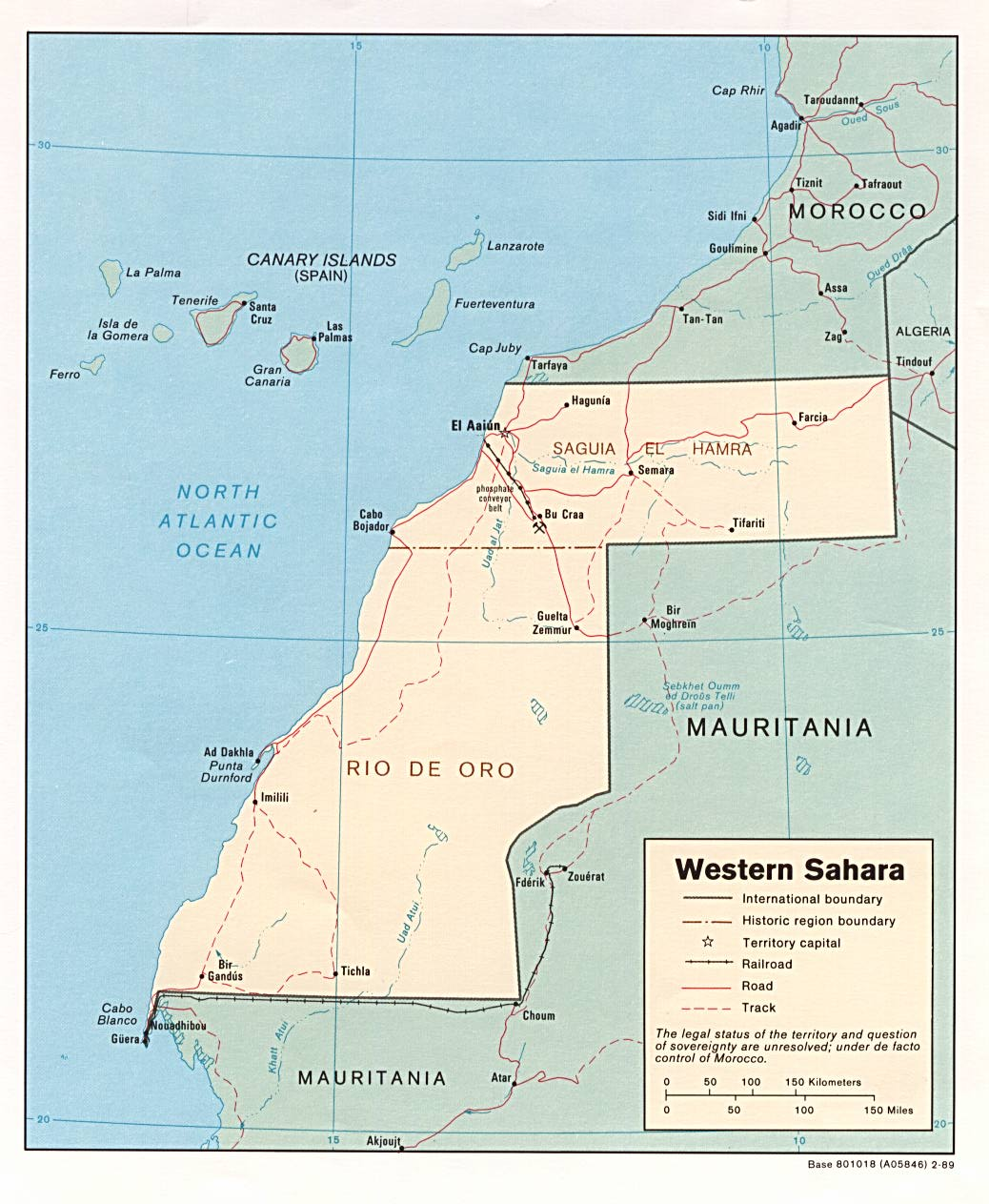 Western Sahara Republic Maps PerryCastañeda Map Collection UT - Western sahara map