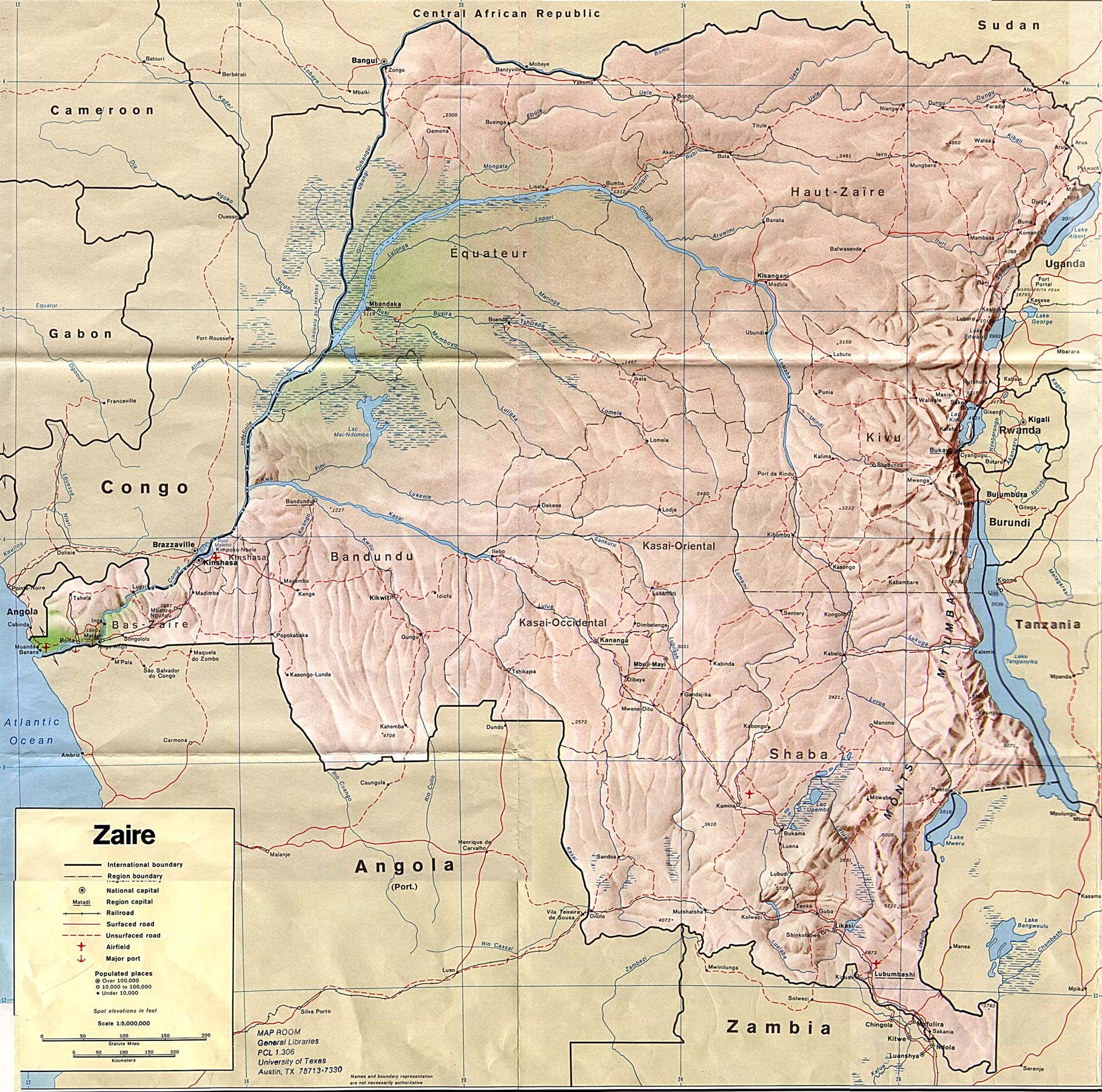 Congo Democratic Republic Maps PerryCastaeda Map Collection UT