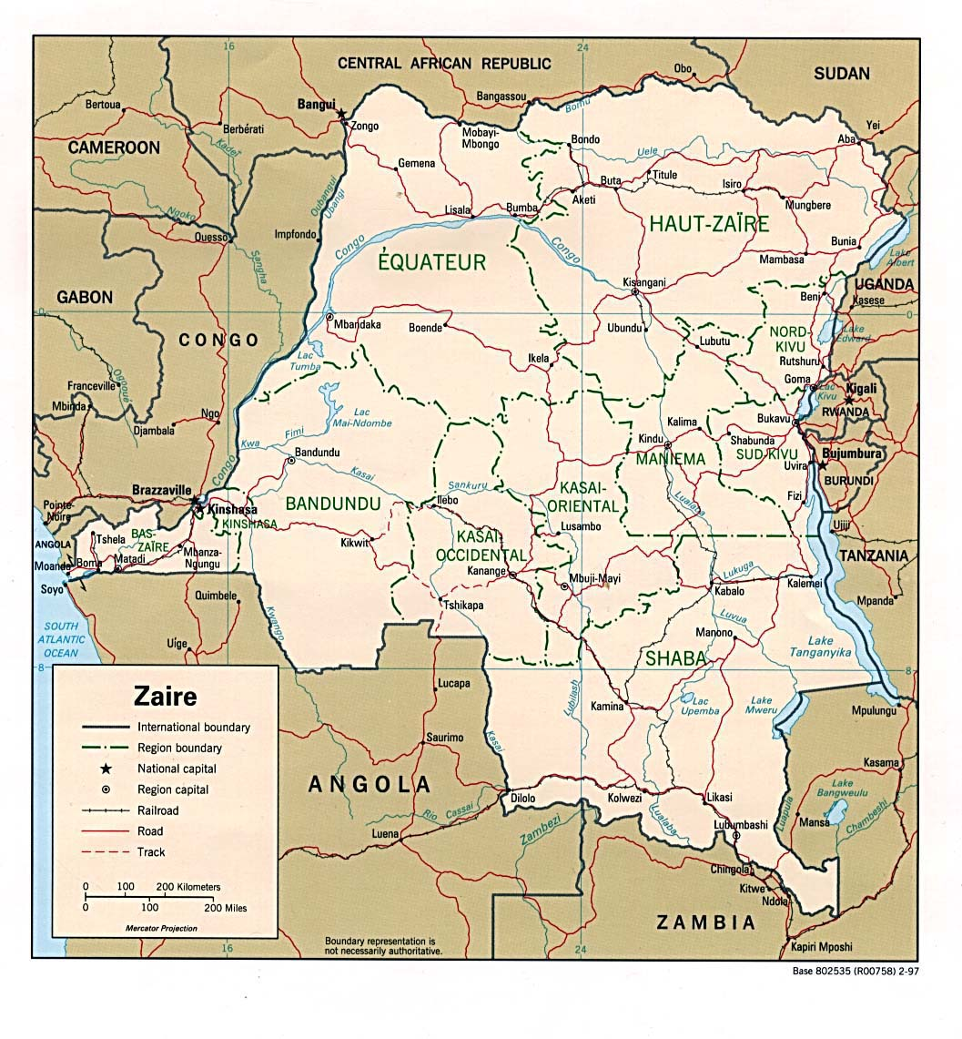 where is zaire on the map of africa Congo Democratic Republic Maps Perry Castaneda Map Collection where is zaire on the map of africa