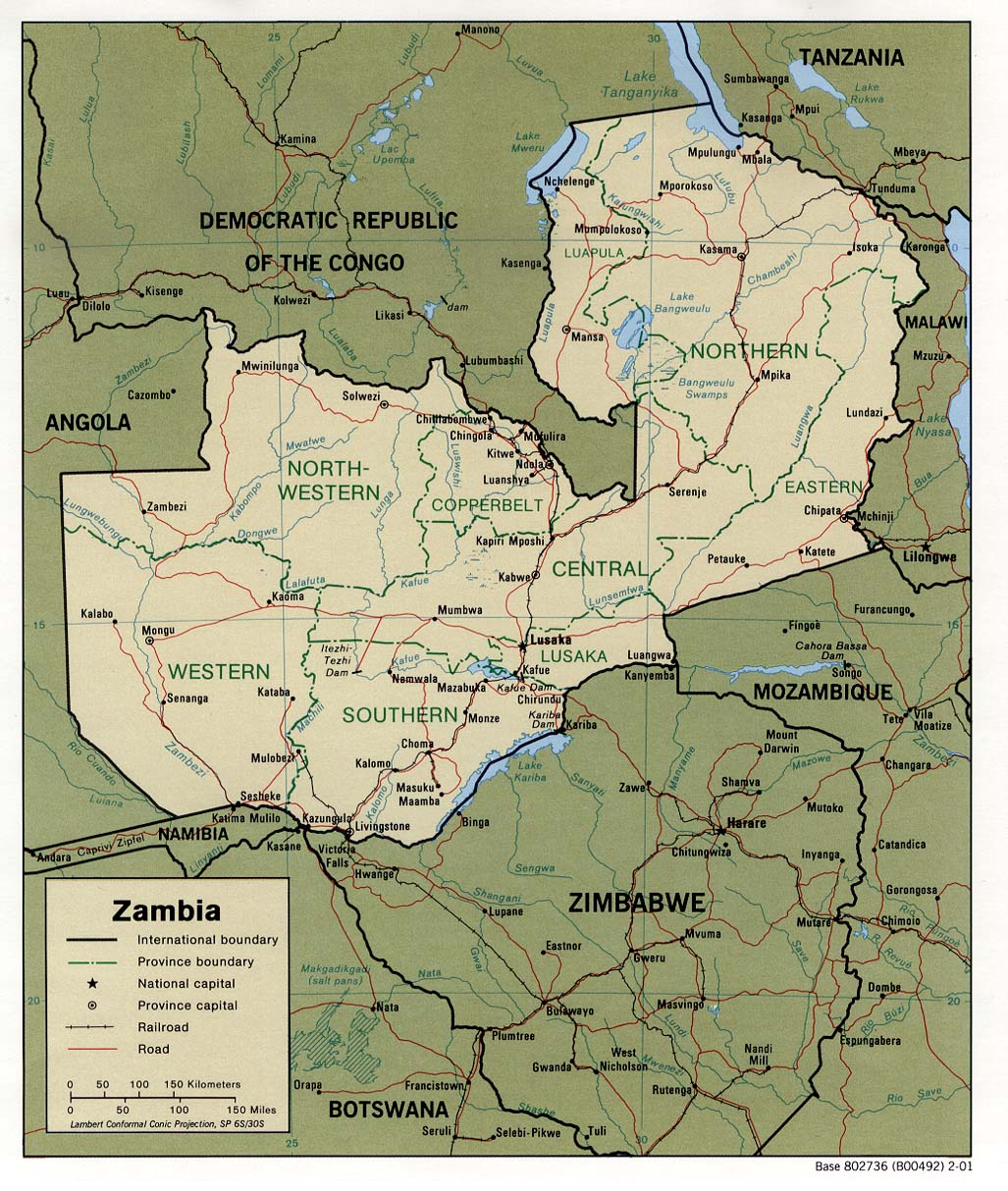 Zambia Maps PerryCastaeda Map Collection UT Library Online