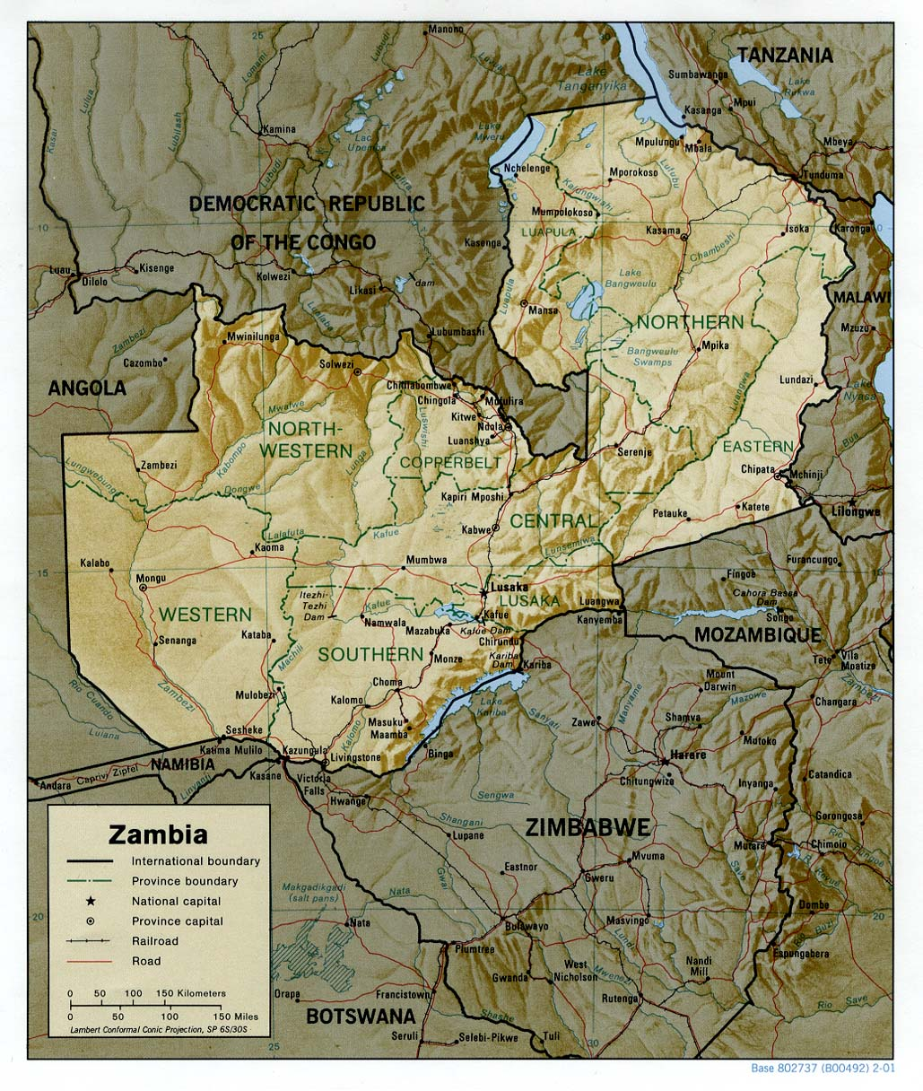 Zambia Maps PerryCastañeda Map Collection UT Library Online - Zambia map