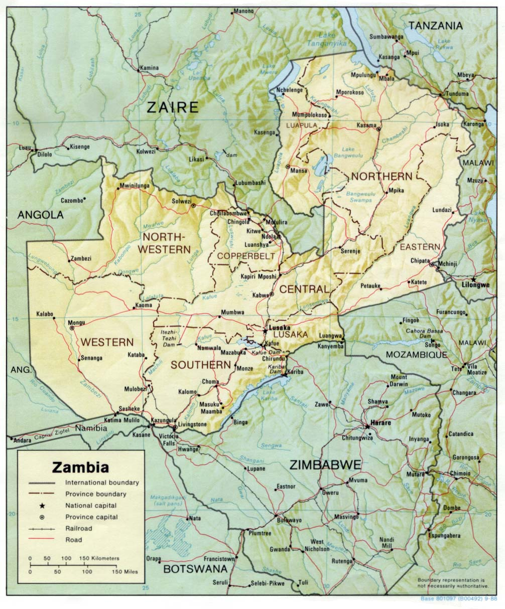Zambia Maps Perry Castaneda Map Collection Ut Library Online