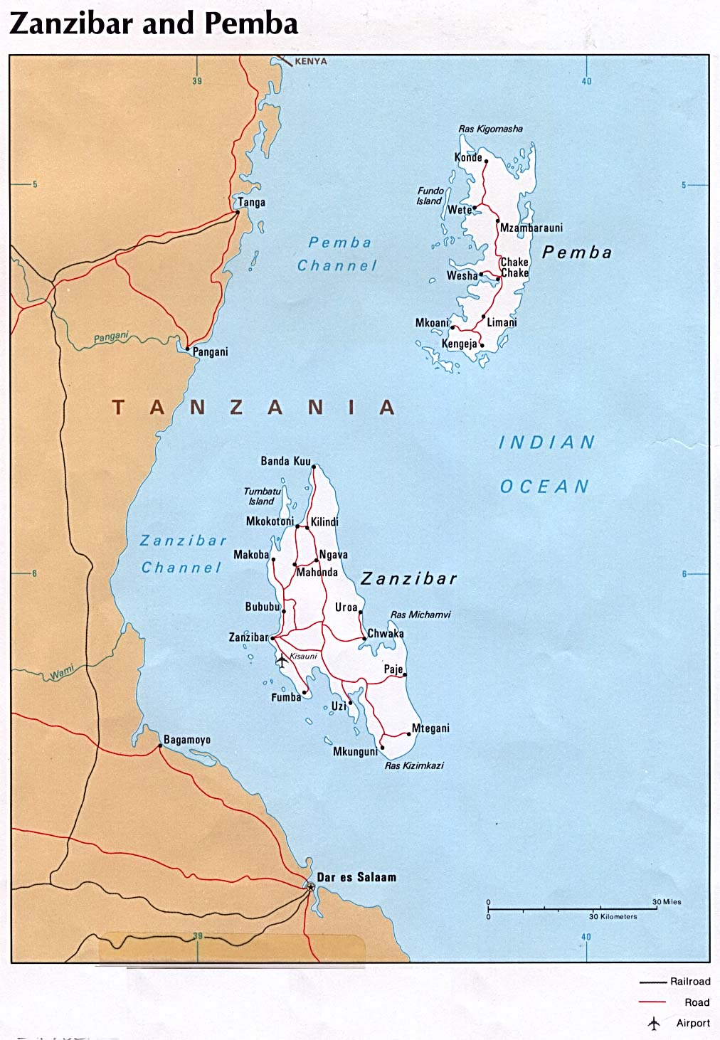 Tanzania Maps Perry Castaneda Map Collection Ut Library Online