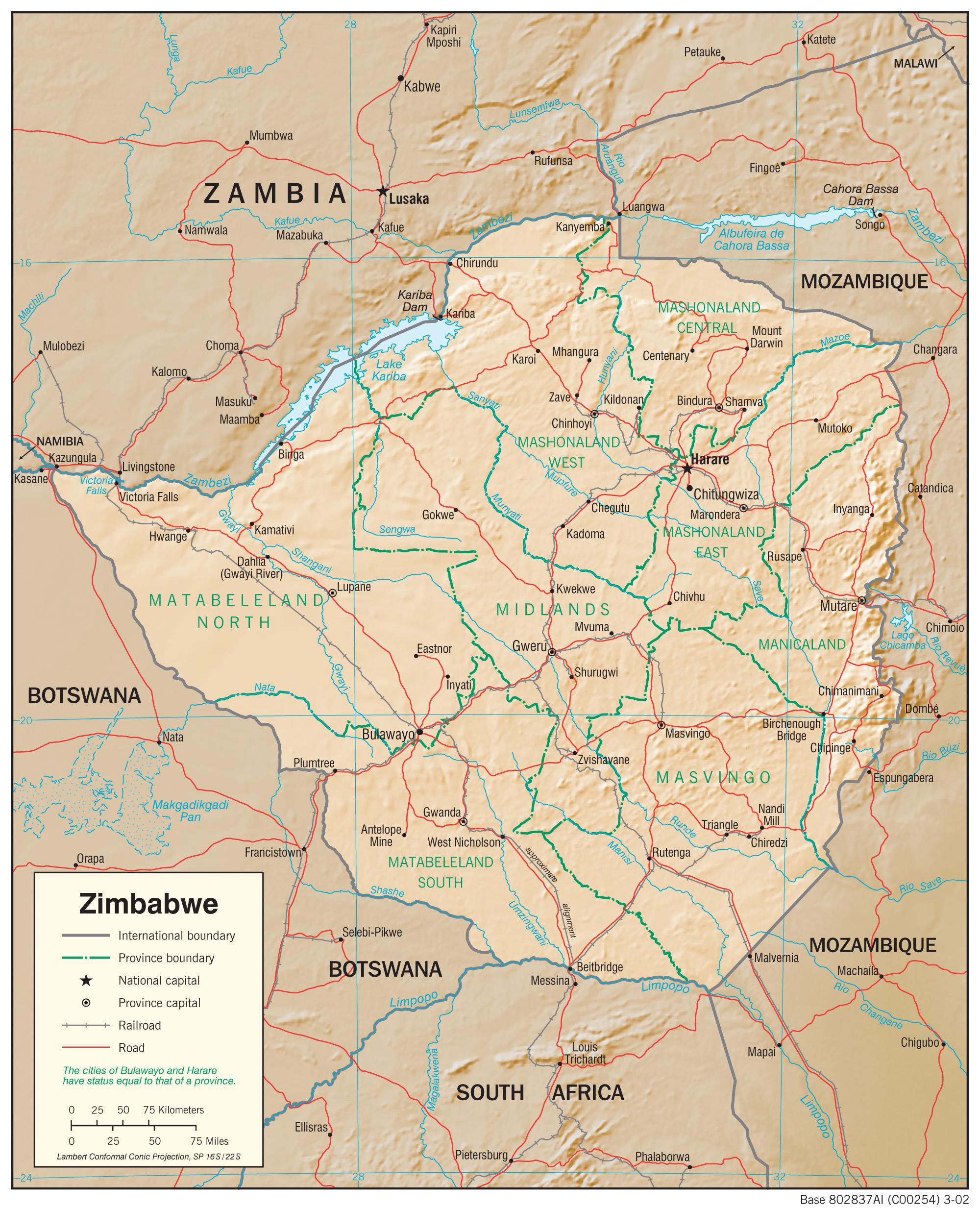 Zimbabwe maps perry castaeda map collection ut library online zimbabwe maps gumiabroncs Image collections