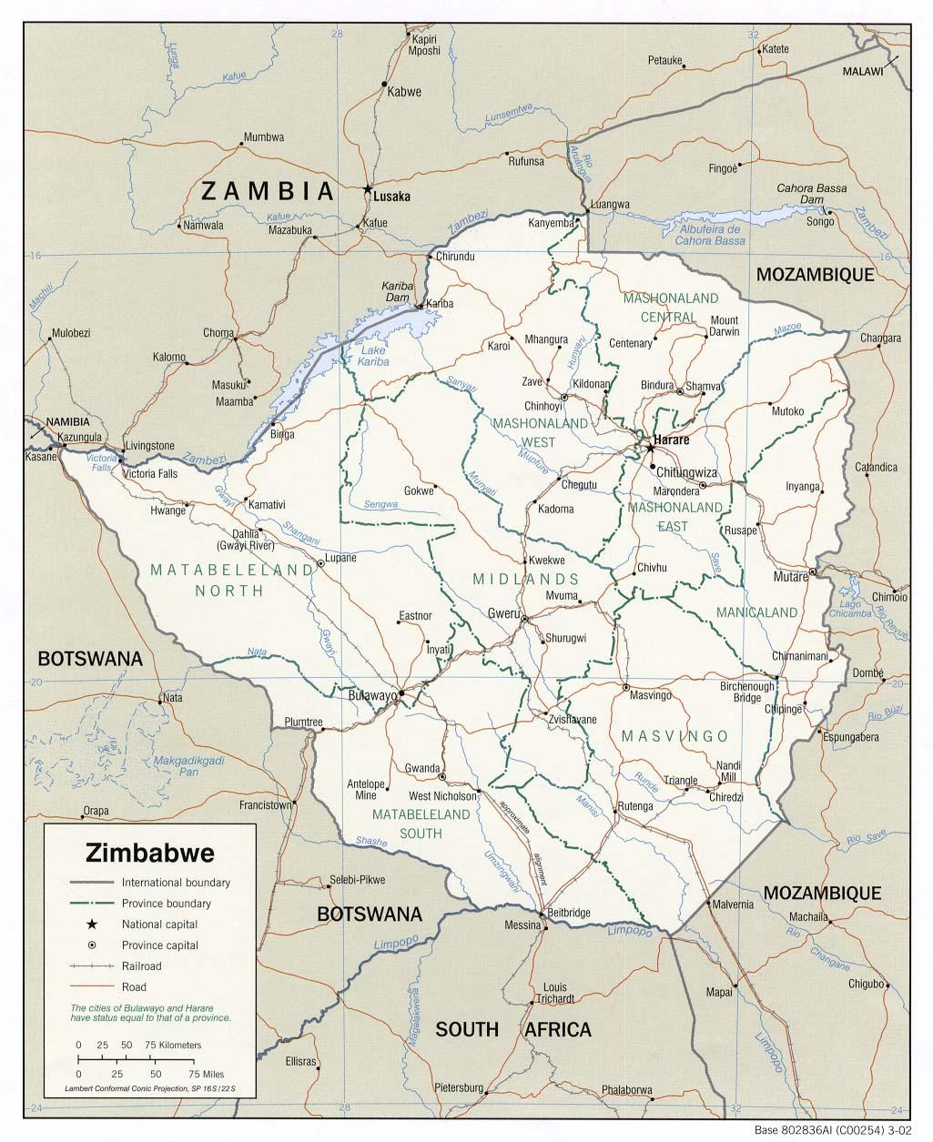 Map Of Africa Showing Zimbabwe.Zimbabwe Maps Ecoi Net