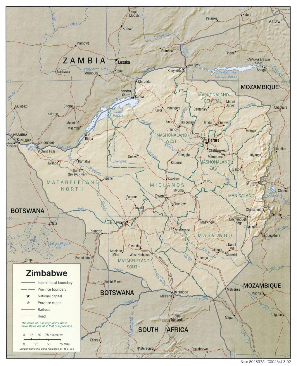 Map Of South Africa And Zimbabwe.Zimbabwe Maps Perry Castaneda Map Collection Ut Library Online
