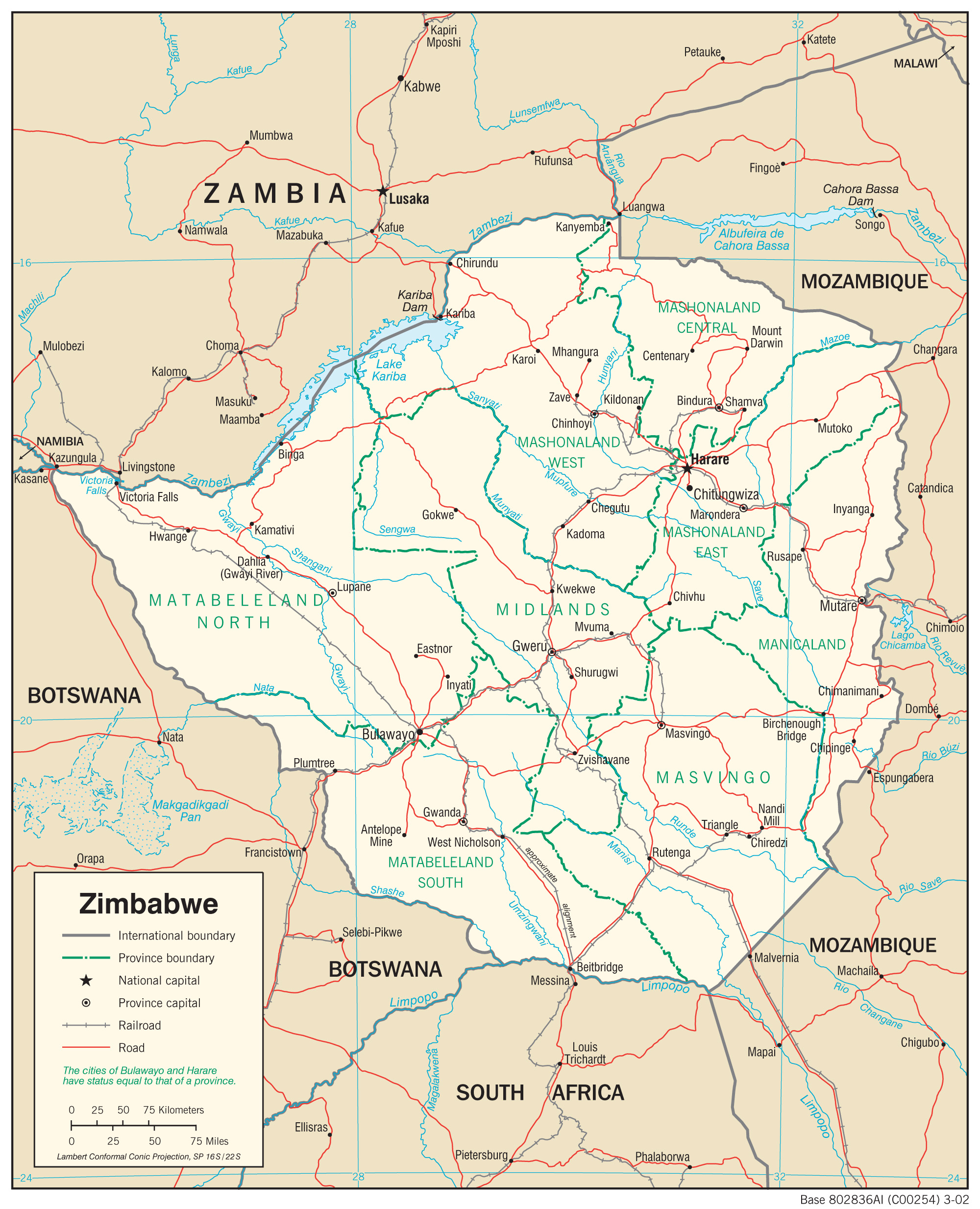 Map Of Zimbabwe Zimbabwe Maps   Perry Castañeda Map Collection   UT Library Online Map Of Zimbabwe