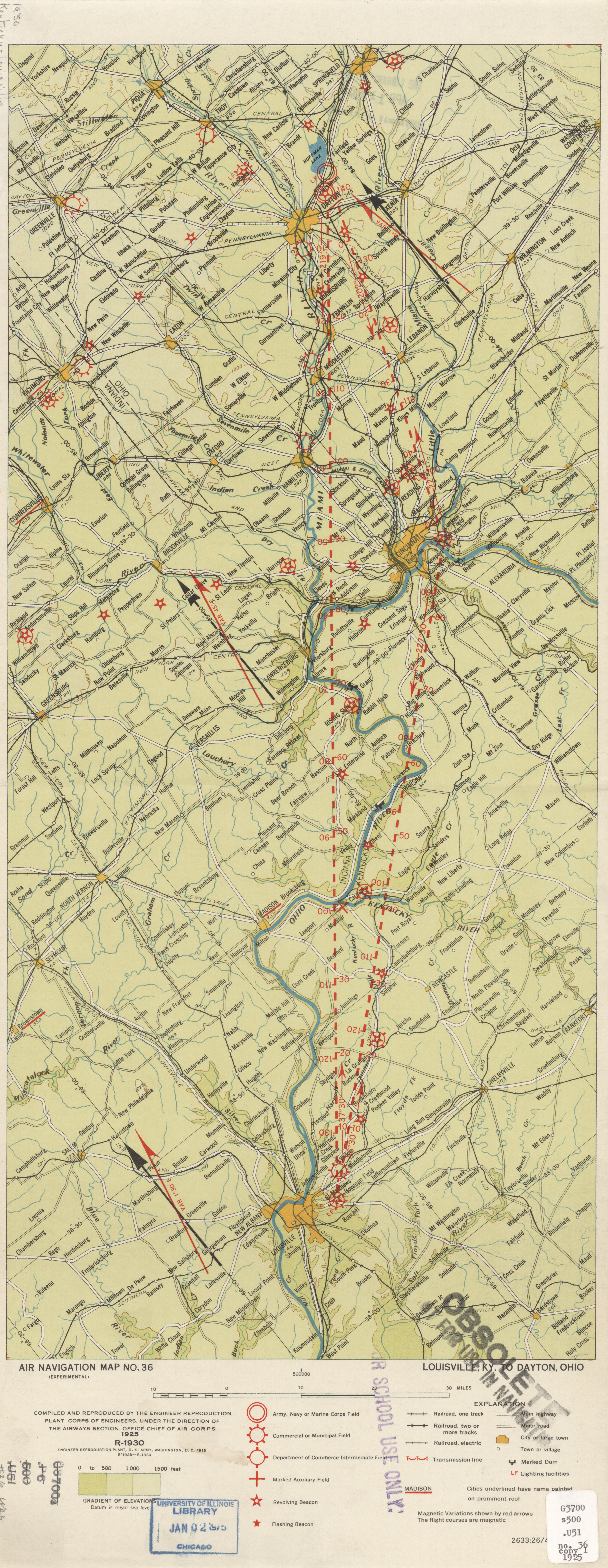 United States Air Navigation Maps PerryCastañeda Map Collection - Louisville kentucky map usa